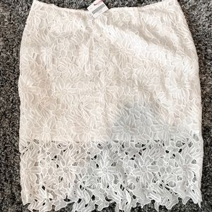 Altar'd State White Lace Skirt